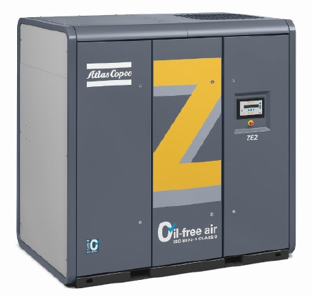 ZE/ZA (VSD): 无油螺杆空压机,22 - 500 kW/ 30 - 700 hp