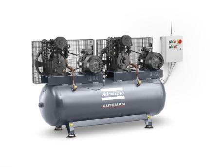 Automan AT系列 油润滑、铸铁活塞式空压机,4-11 kW / 5.5-10 hp